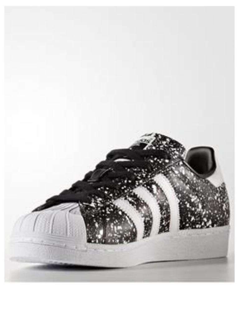 adidas Originals Superstar - Black Print , Black Print/White, Size 5, Women