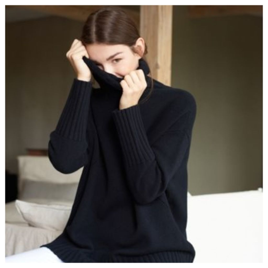 Wool Chunky Roll-Neck Jumper
