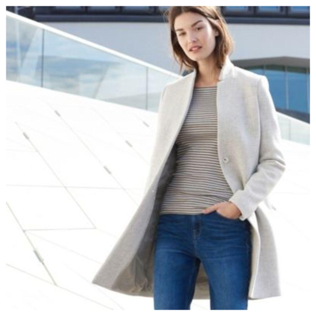 Wool-Rich Textured Coat