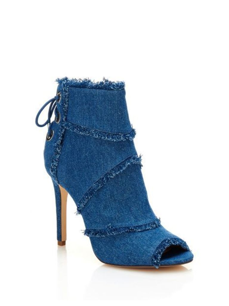 Guess Pastora Peep-Toe Ankle Boot