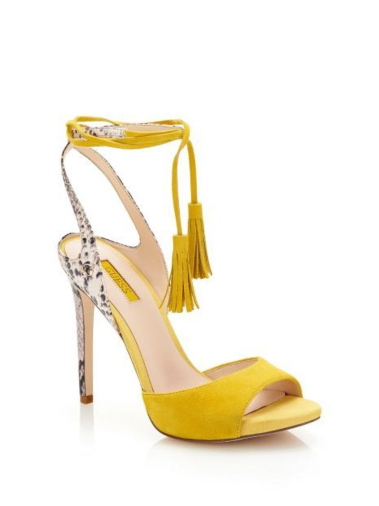 Guess Amee Sandal With Python Print Heel