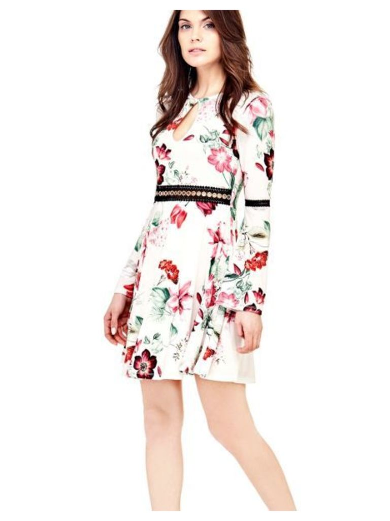Guess Floral Dress With Embroidery