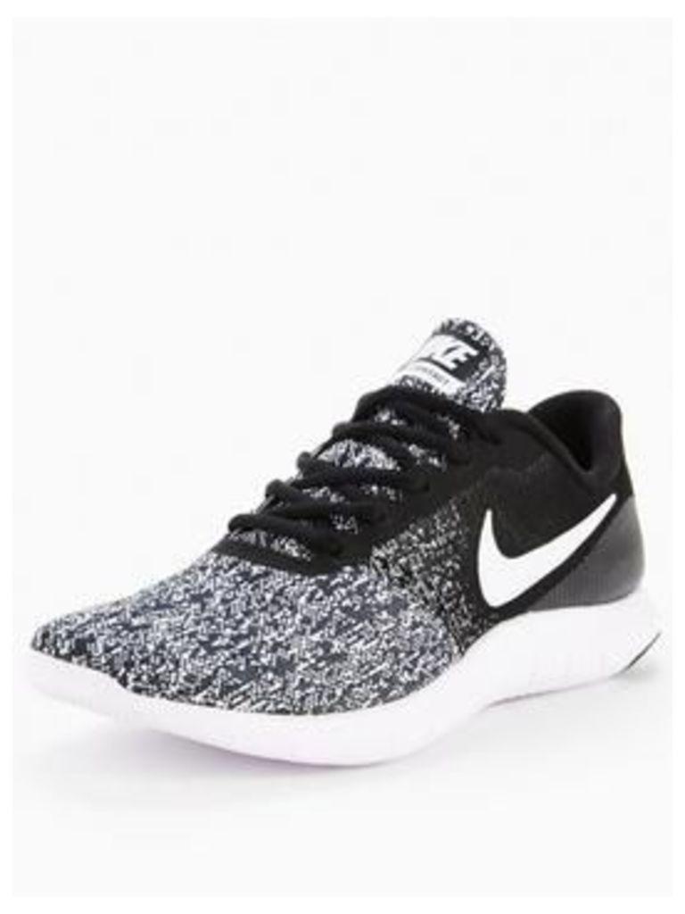 Nike Flex Contact, Black/White, Size 6, Women