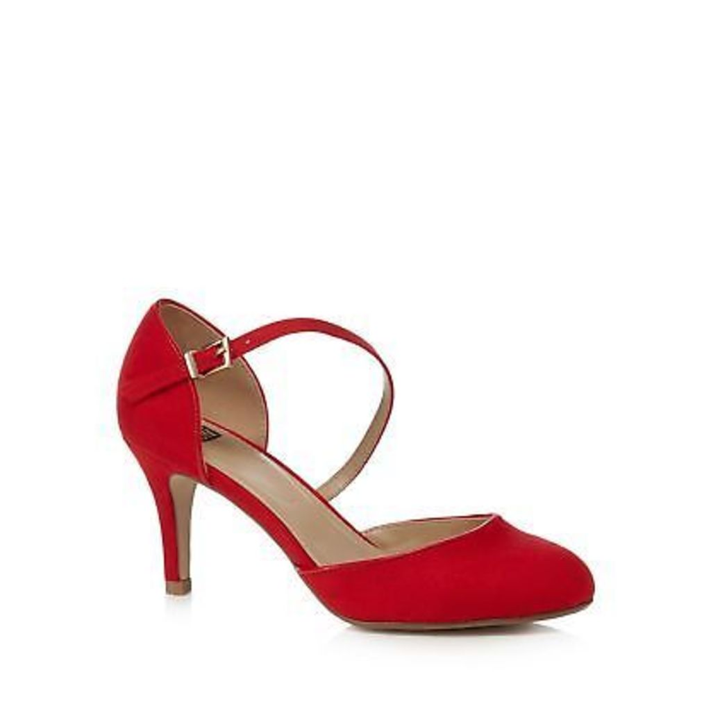The Collection Red Suedette High Heel Court Shoes From Debenhams