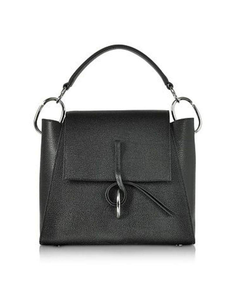 3.1 Phillip Lim - Black Leigh Top Handle Satchel Bag
