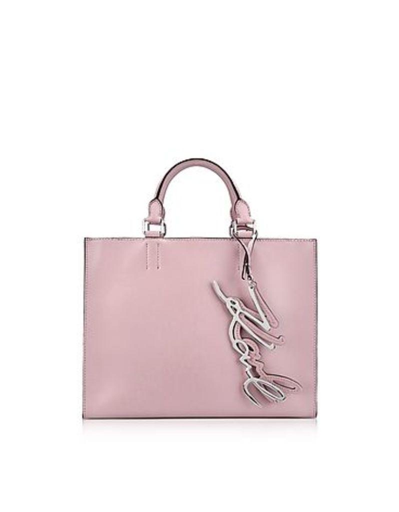 Karl Lagerfeld - K/Metal Signature Pink Ballet Leather Shopper Bag