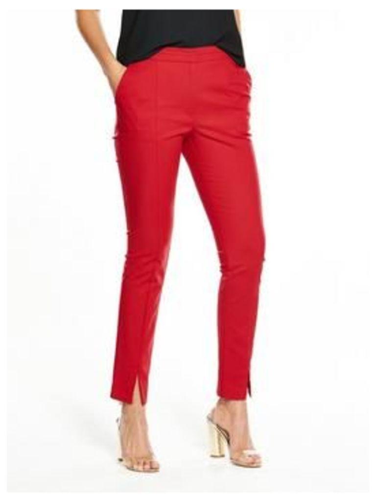 V by Very Split Front Slim Leg Trouser, Black, Size 10, Women