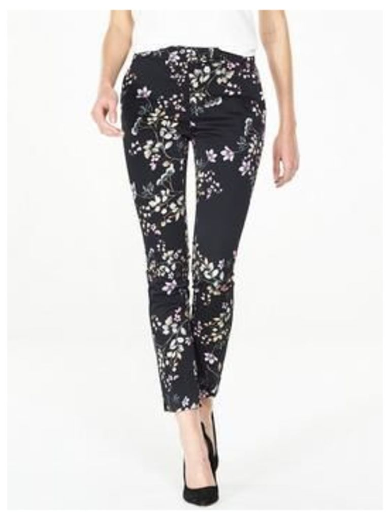 V by Very Floral Printed Trouser, Floral Print, Size 16, Women