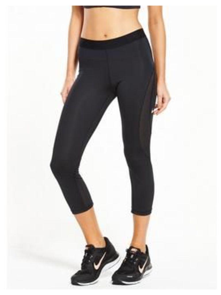 Nike Nike Training Pro HyperCool Capri Tight, Black, Size L, Women