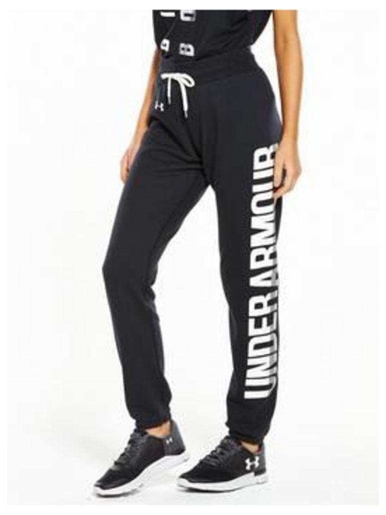 UNDER ARMOUR Favourite Fleece Pant, Black, Size M, Women