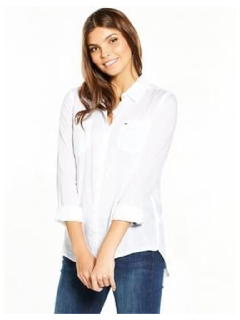Hilfiger Denim Hilfiger Denim Original Lightweight L/s Shirt, Classic White, Size 14=L, Women