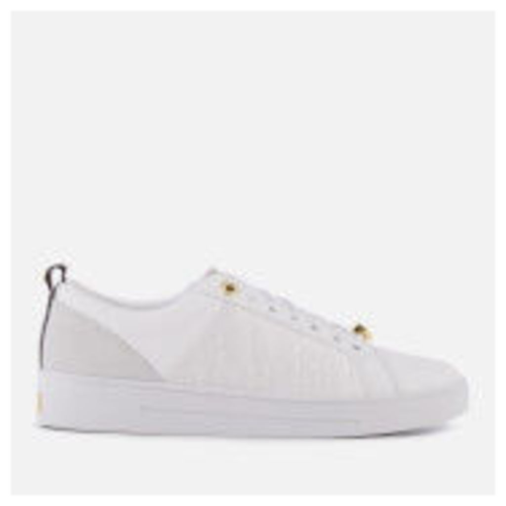 Ted Baker Women's Kulei Leather Cupsole Trainers - White