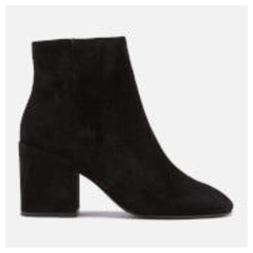 Ash Women's Eden Suede Heeled Ankle Boots - Black