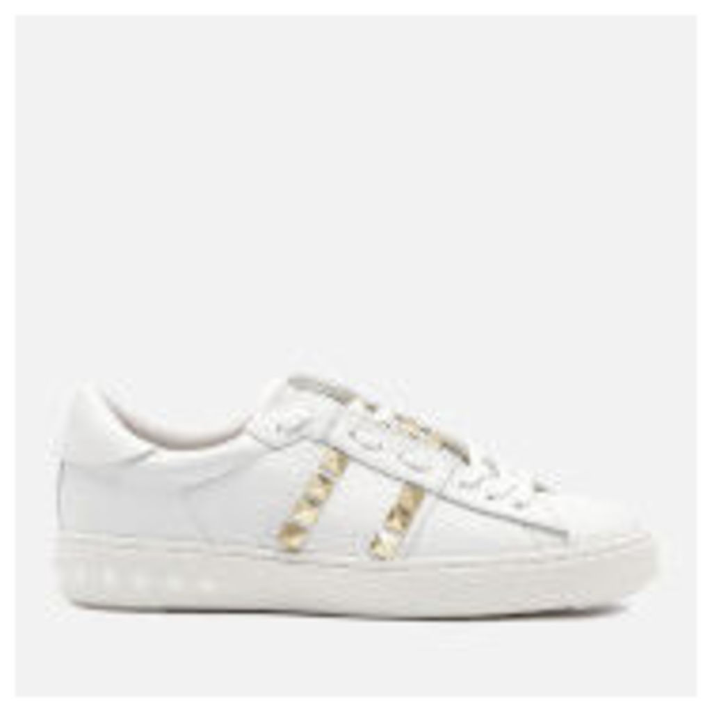Ash Women's Party Leather Studded Cupsole Trainers - White