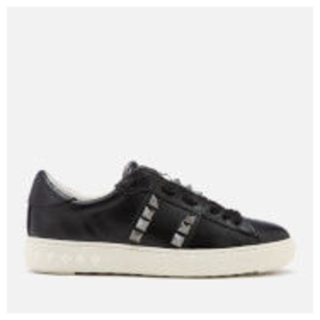 Ash Women's Party Leather Studded Cupsole Trainers - Black
