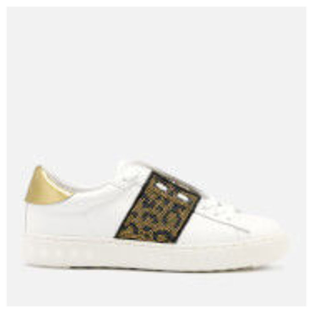 Ash Women's Panthera Leather Cupsole Trainers - White