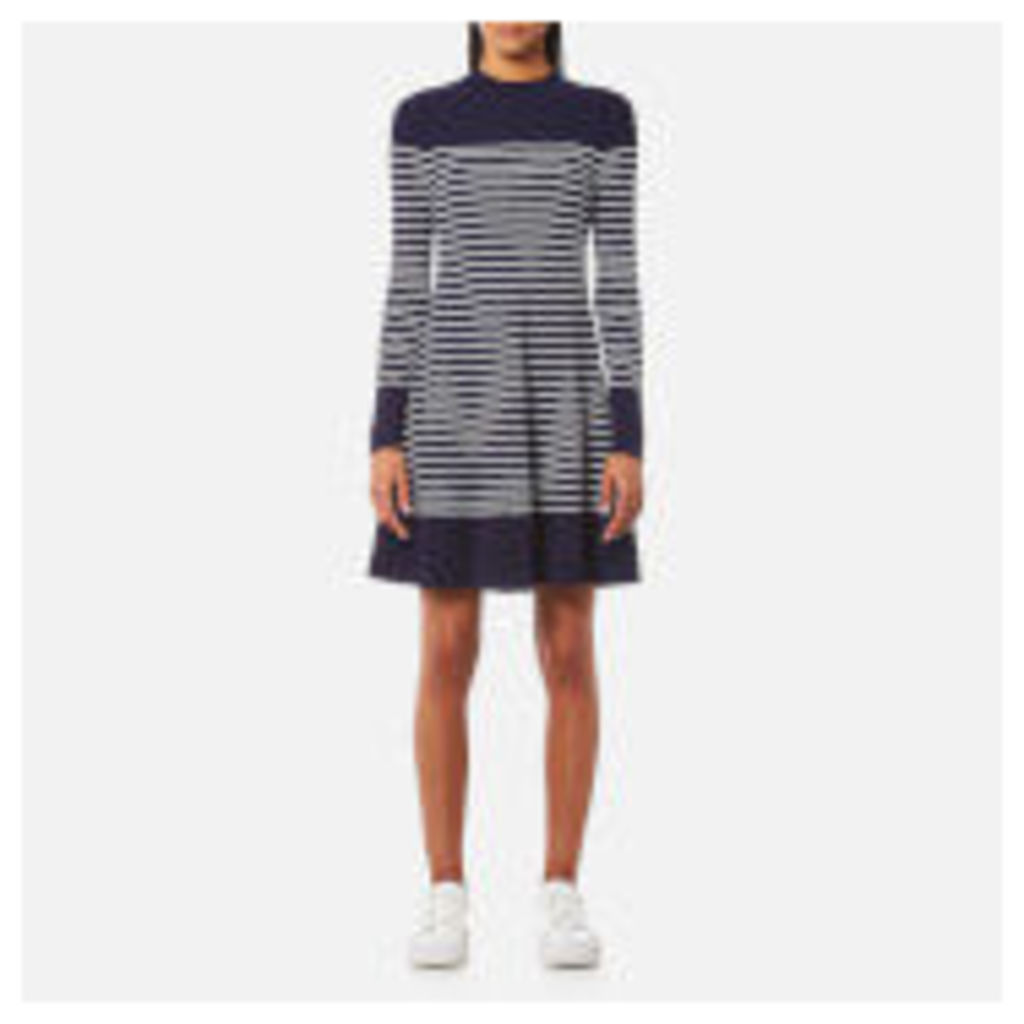 Tommy Hilfiger Women's Gaila Stripe Rib Dress - Peacoat/Classic White