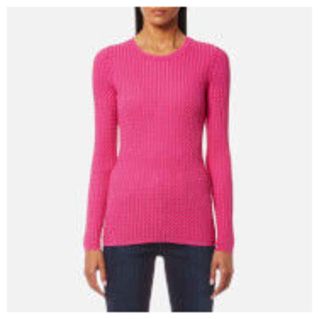 Tommy Hilfiger Women's Gena Cable Crew Neck Jumper - Magenta