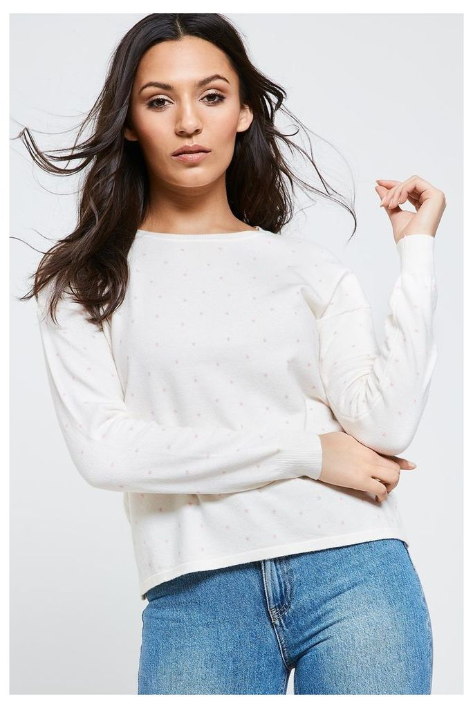 Brand Attic Star Print Jumper - White