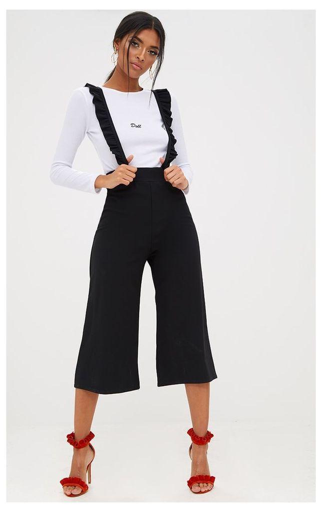 Black Frilly Brace Culottes