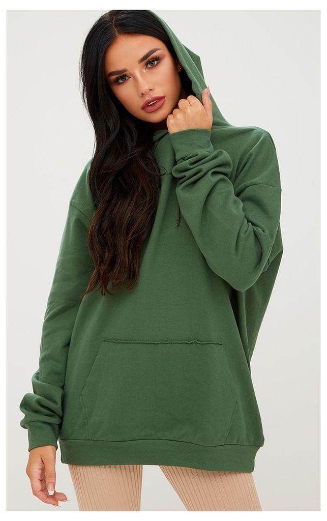 Khaki Oversized Hoodie