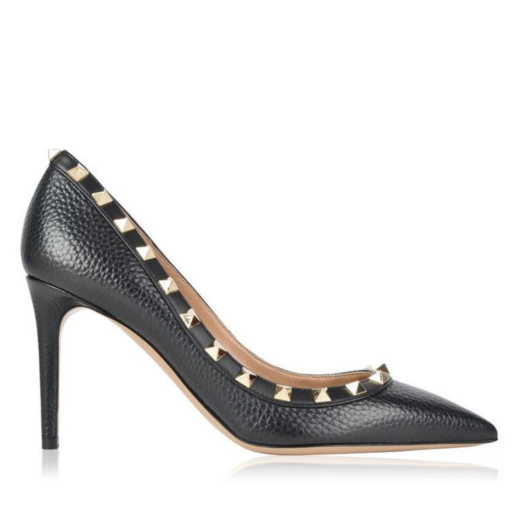 VALENTINO Rockstud 85 Grained Heels