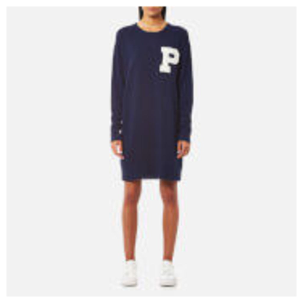 Polo Ralph Lauren Women's Long Sleeve Crew Neck Jumper Dress - Cruise Navy