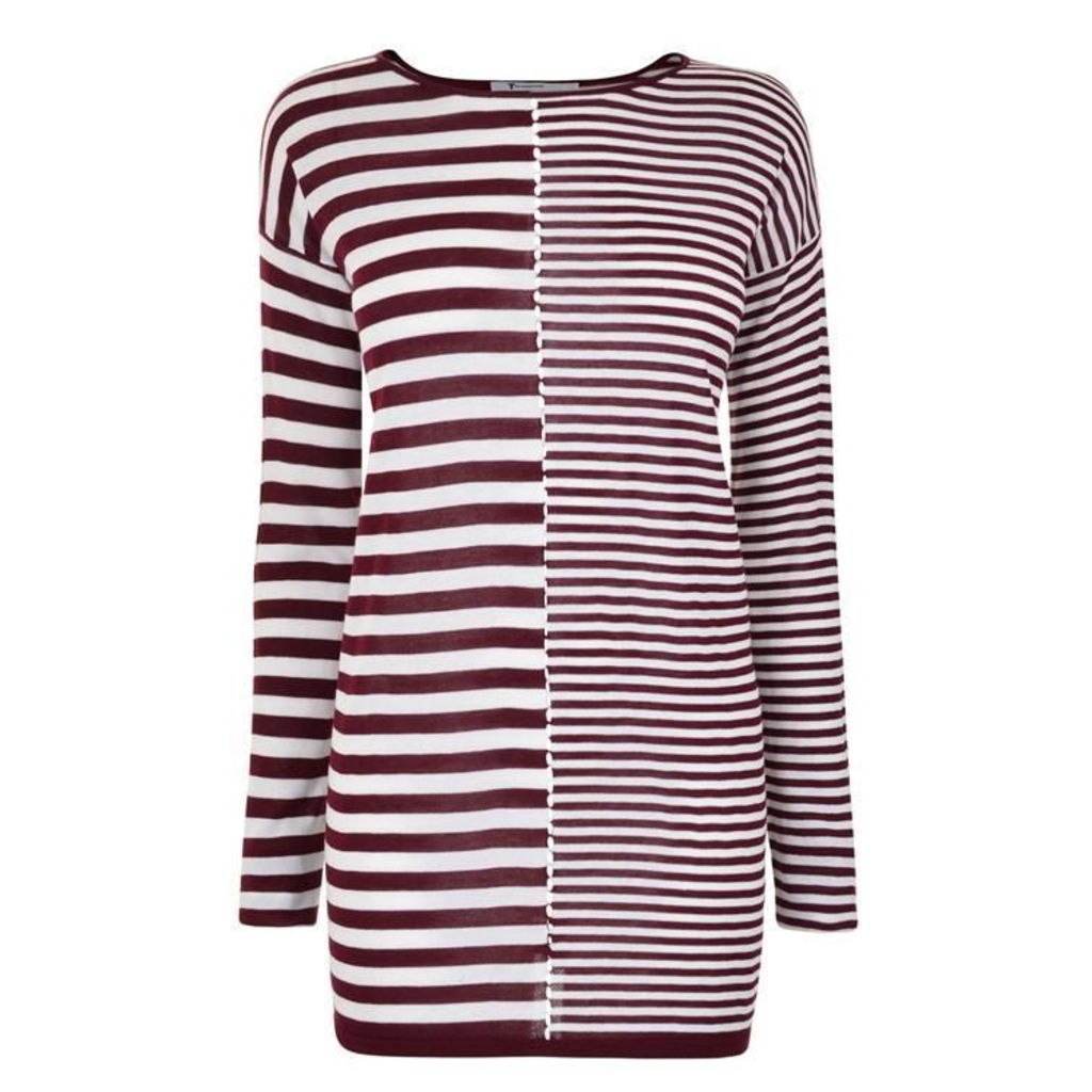 T BY ALEXANDER WANG Oversized Stripe Knit Jumper