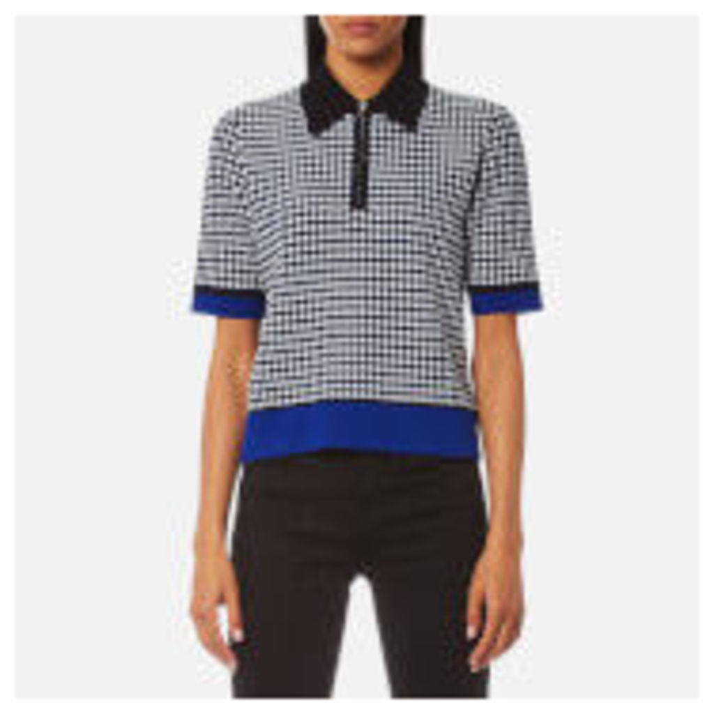 Diane von Furstenberg Women's Collared Knitted Shirt - Klein Blue