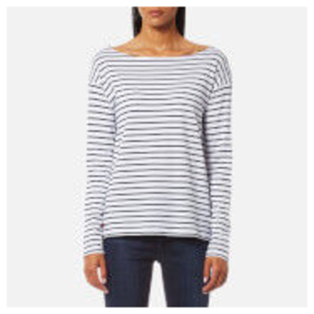 Polo Ralph Lauren Women's Long Sleeve Boat Neck Top - White/Cruise