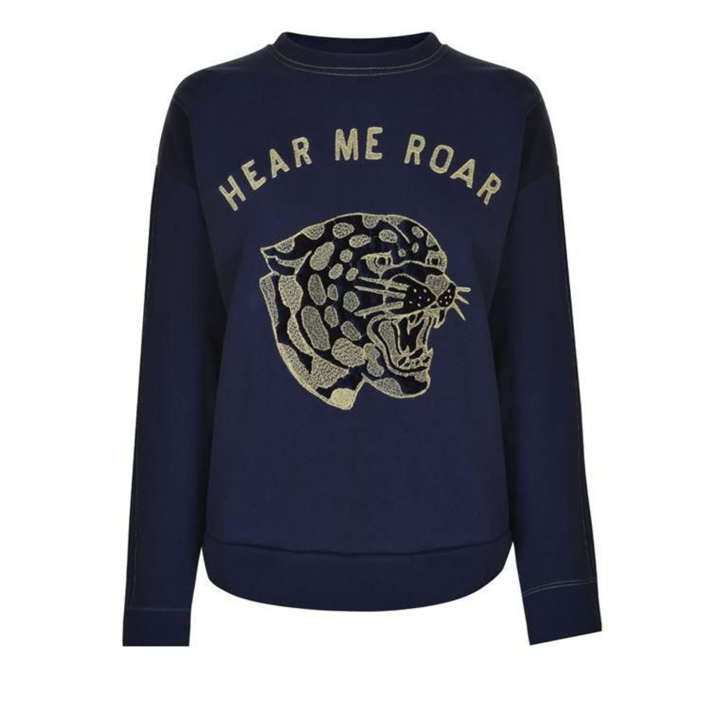 ZOE KARSSEN Hear Me Roar Sweatshirt