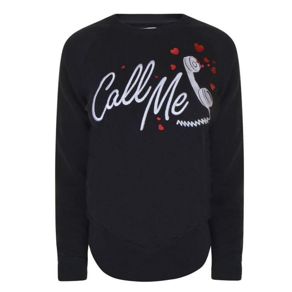 ZOE KARSSEN Call Me Sweatshirt
