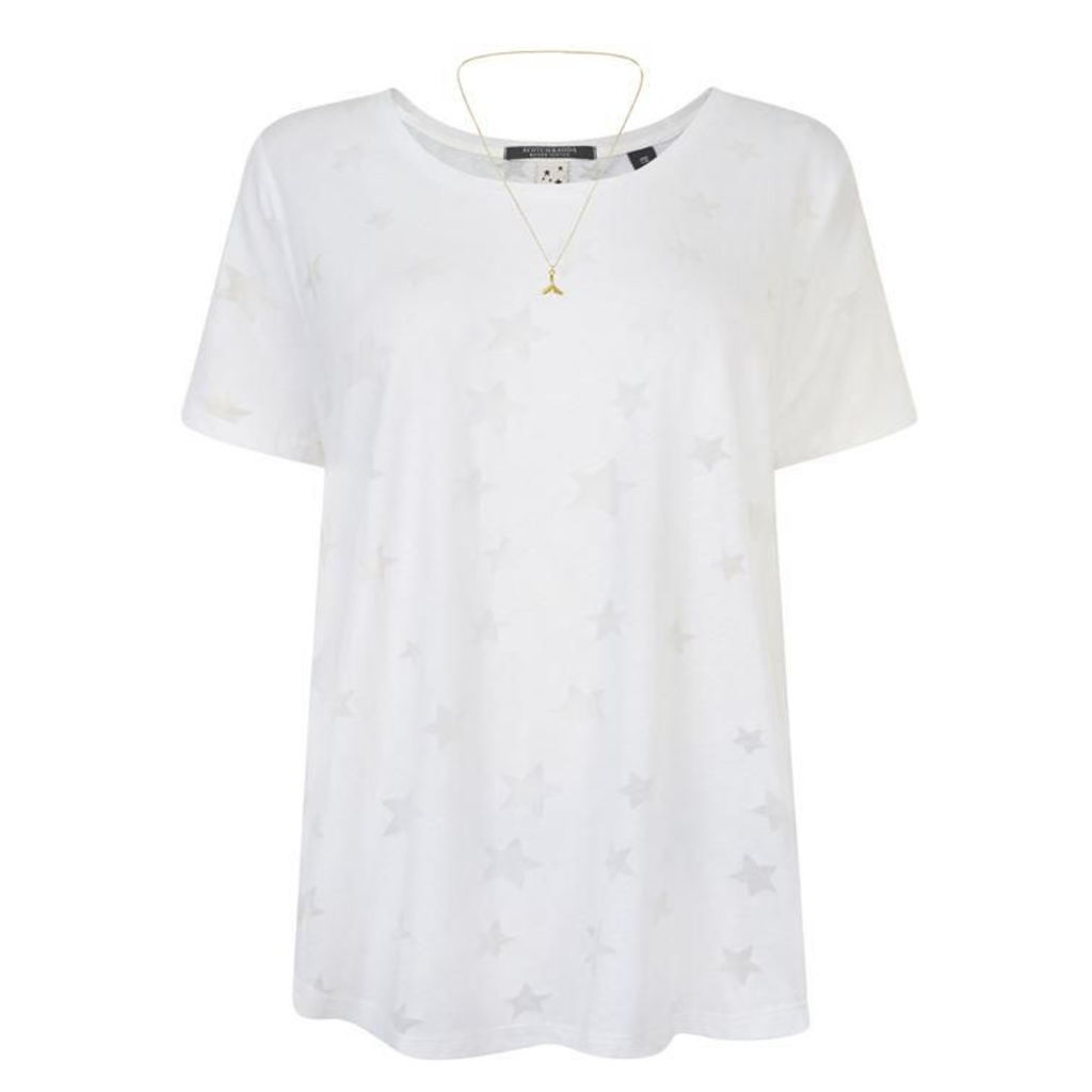 MAISON SCOTCH Embossed Star Top