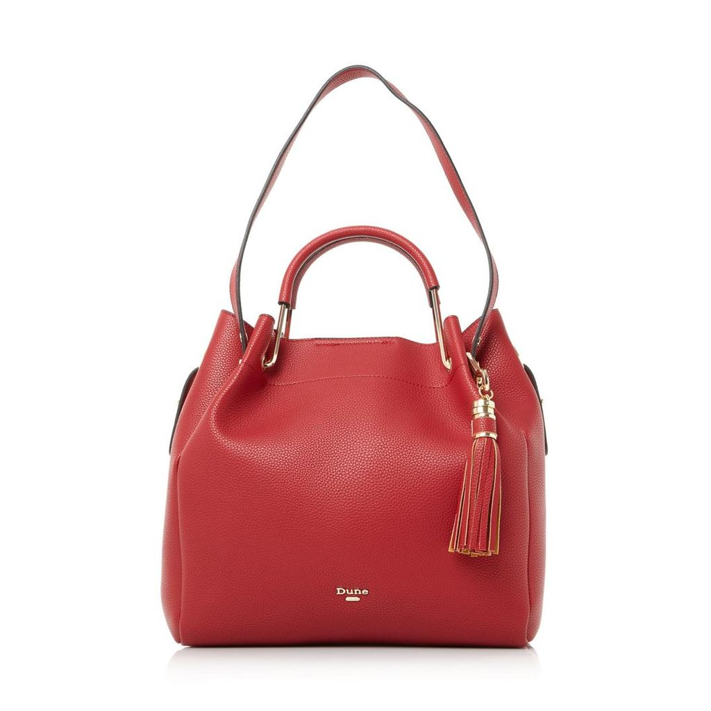 Daura Metal Top Handle Slouch Bag