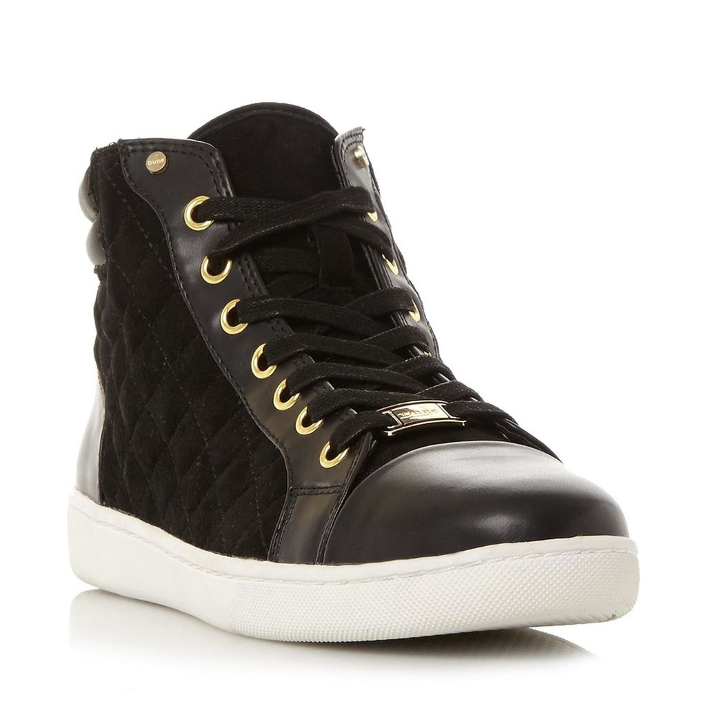 Entourage Quilted High Top Lace Up Trainer
