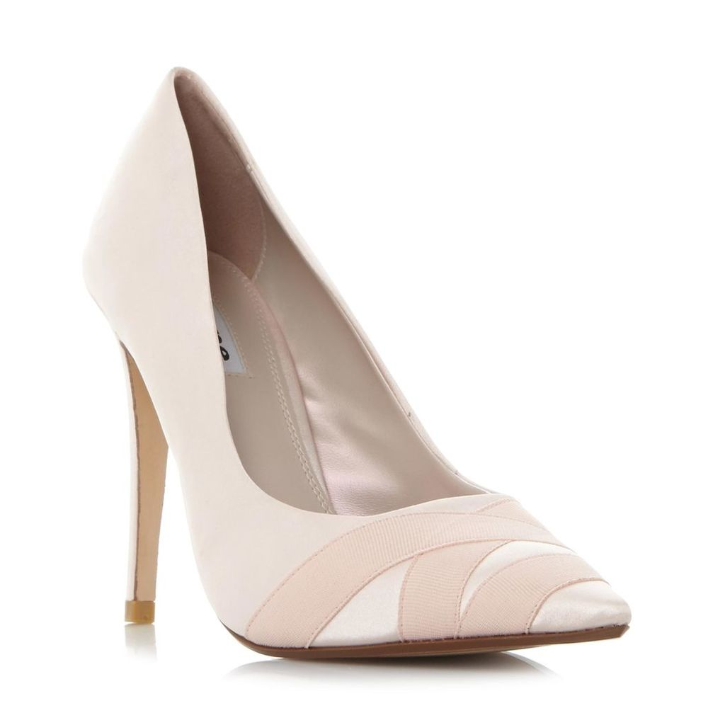 Archivve Satin Pointed Toe Court Shoe