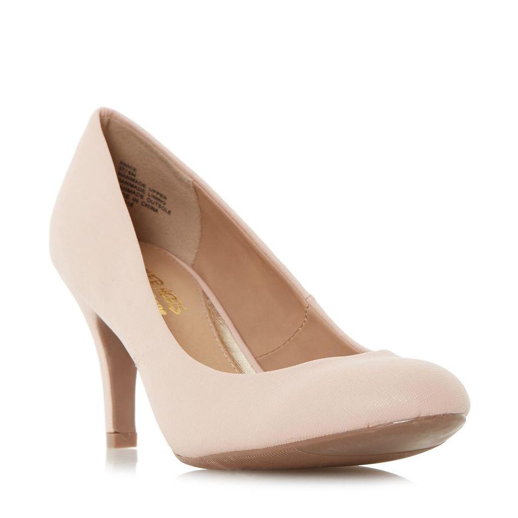 Annie Round Toe Mid Heel Court Shoe