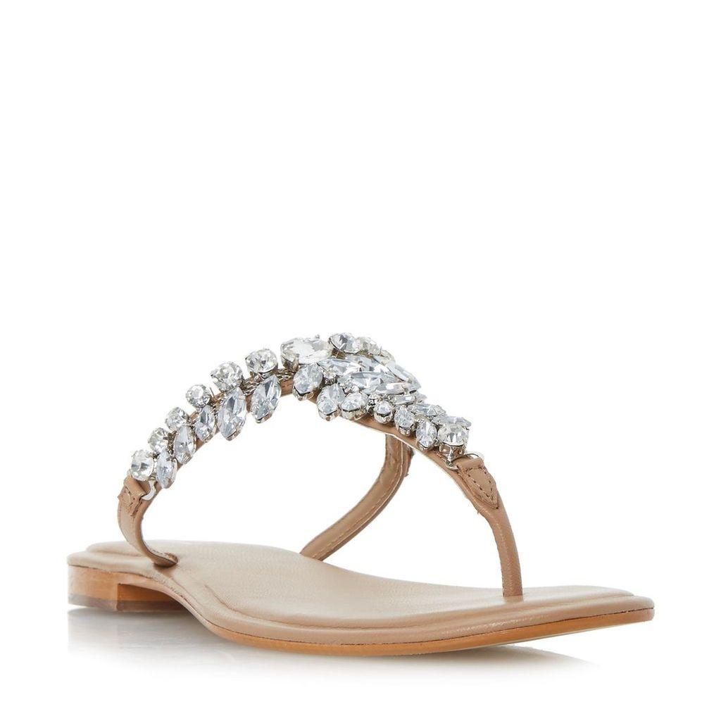 Nara Jewelled Toe Post Flat Sandal