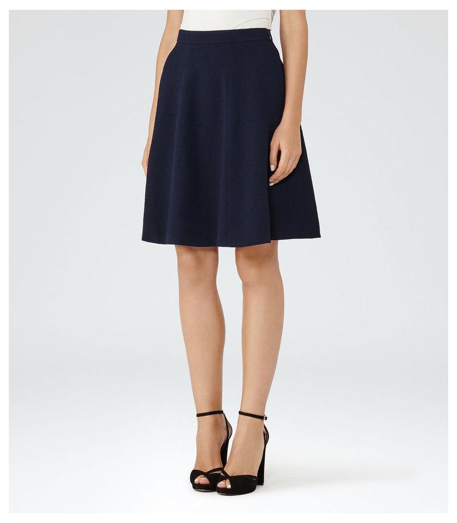 REISS Hannah - A-line Mini Skirt in Blue, Womens