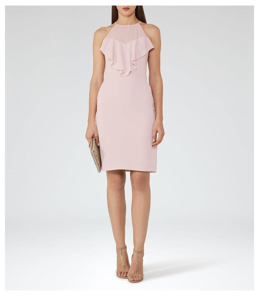 REISS River - Ruffle-detail Dress in Pink, Womens