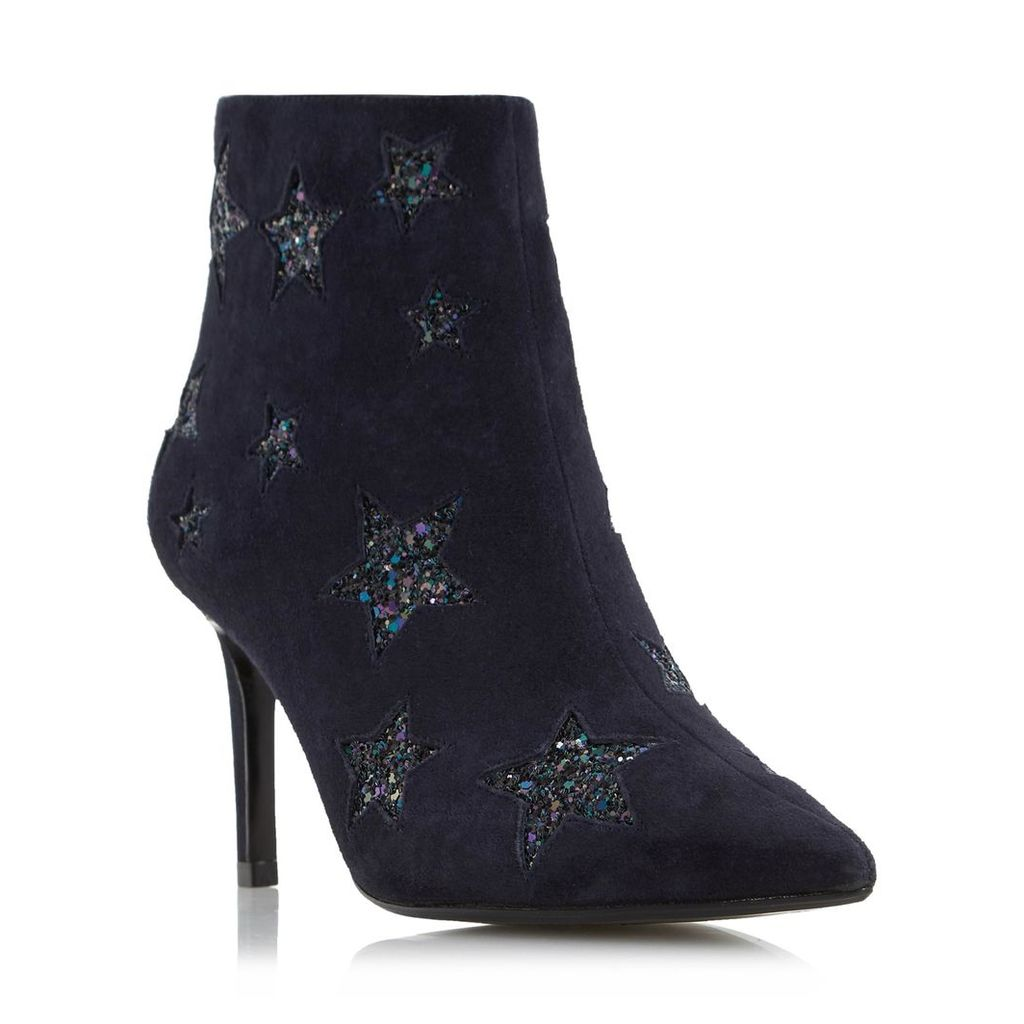 Orbit Glitter Star Detail Heeled Ankle Boot