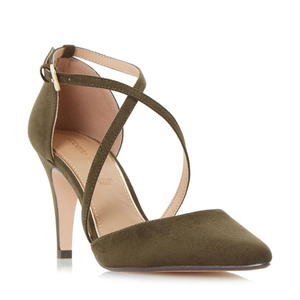Clara Cross Strap Two Part Court Shoe