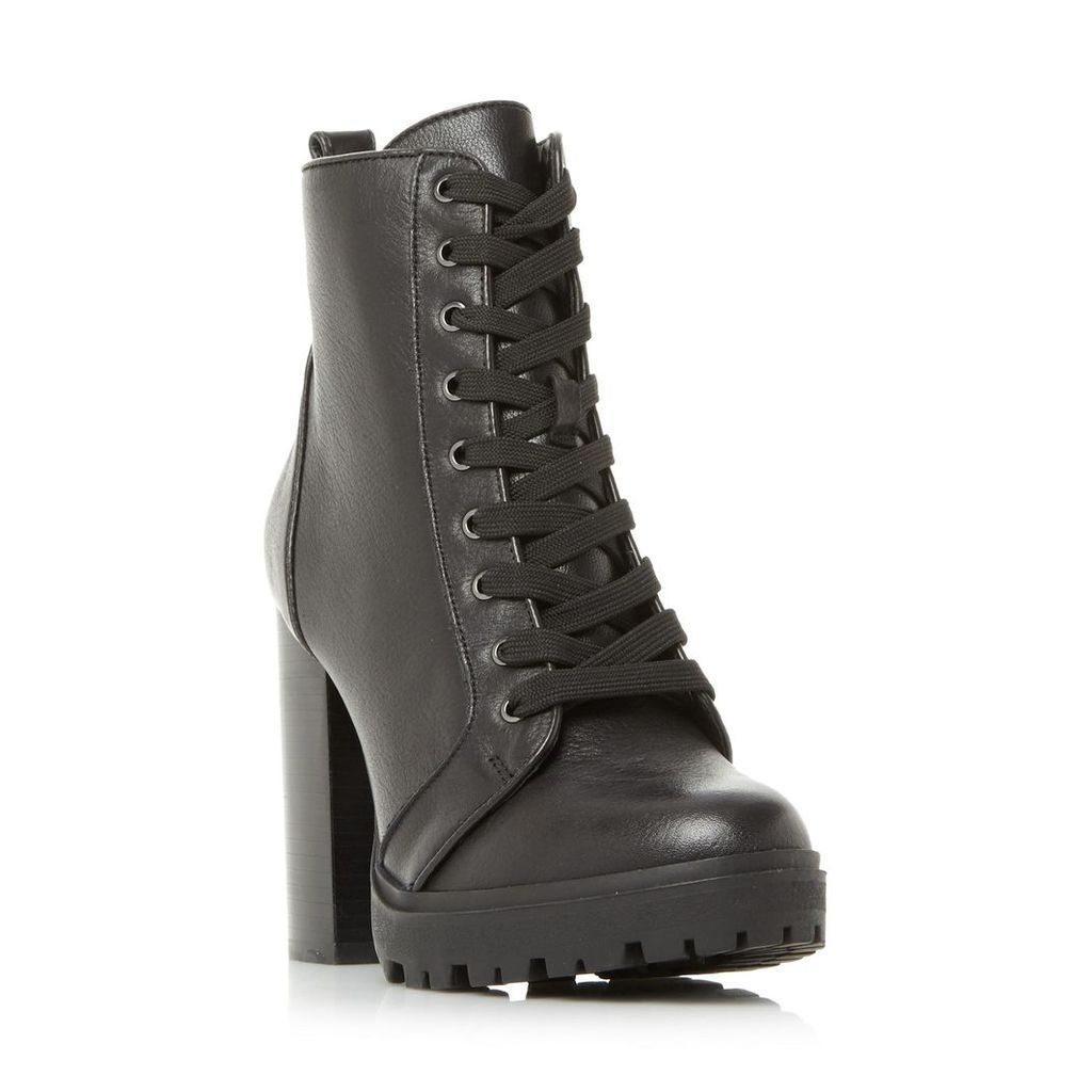 Laurie Sm Lace Up Heeled Cleated Sole Boot