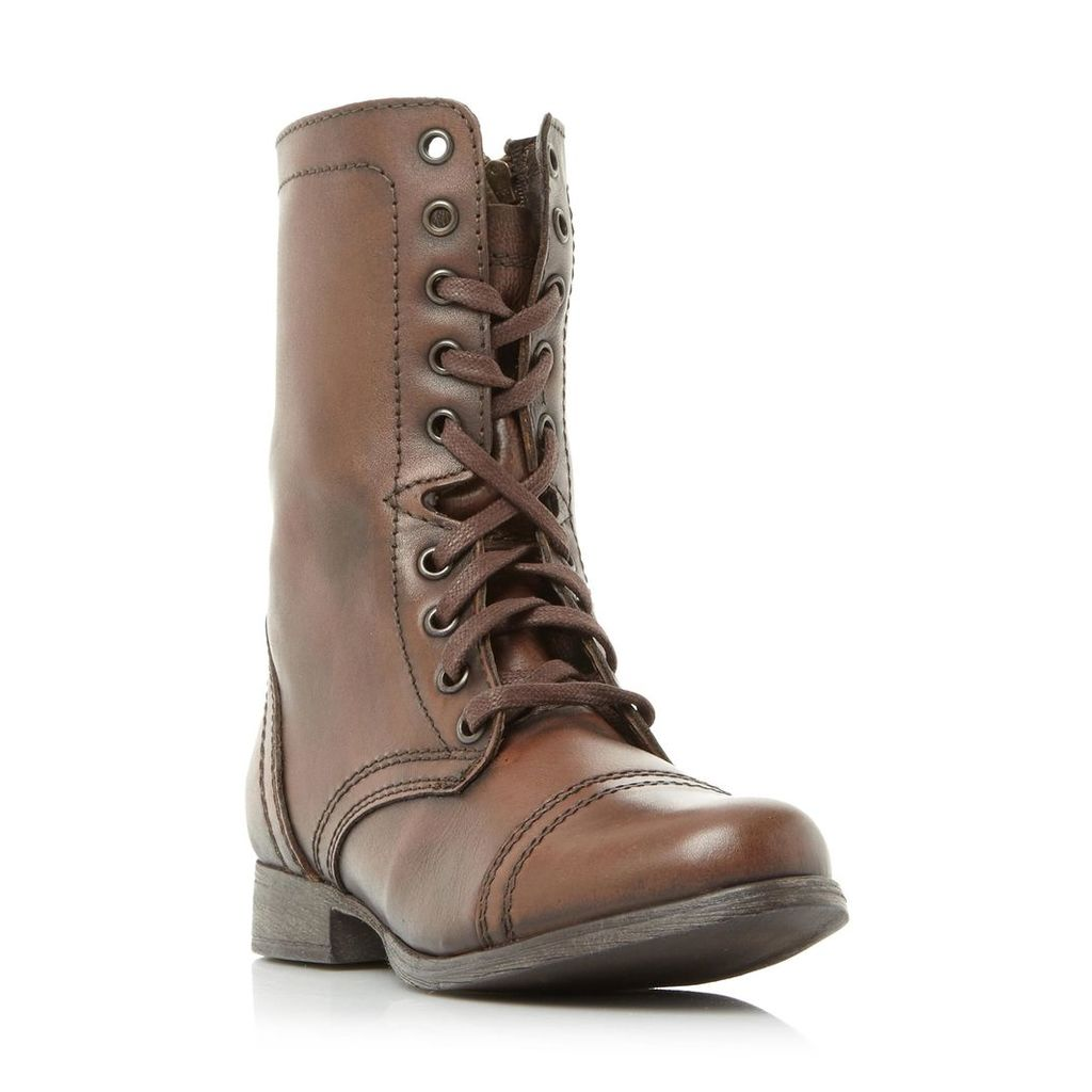 Troopa Sm Lace Up Biker Boot