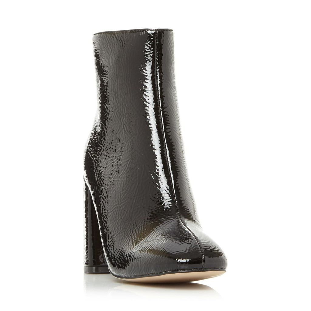 Posed Sm Back Zip Heeled Ankle Boot