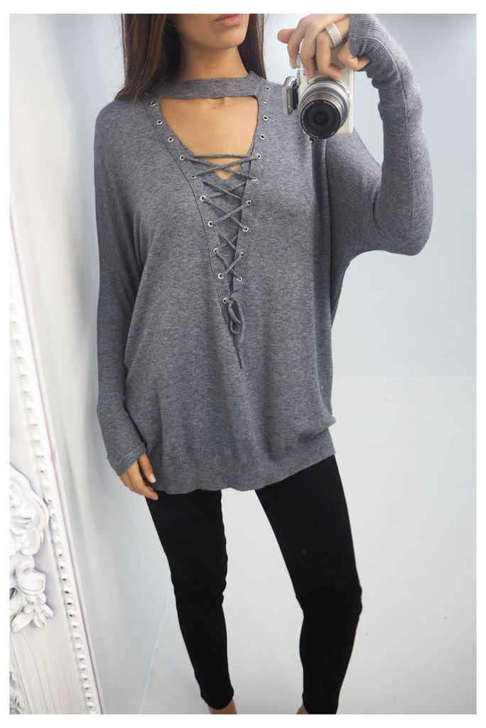 Marty lace up choker jumper