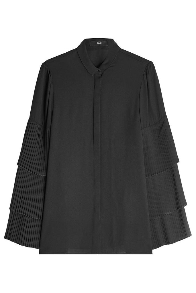 Steffen Schraut Blouse with Pleated Sleeves