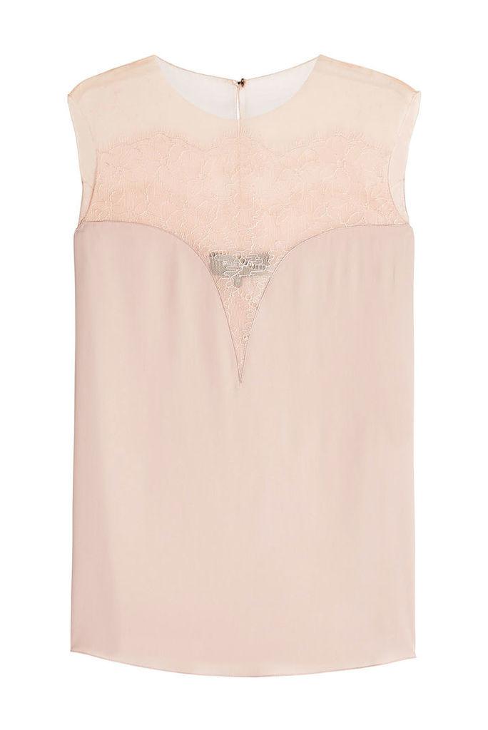 Paule Ka Sleeveless Top with Silk and Lace