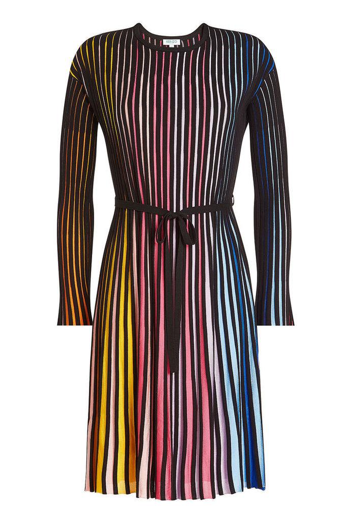 Kenzo Striped Dress with Cotton