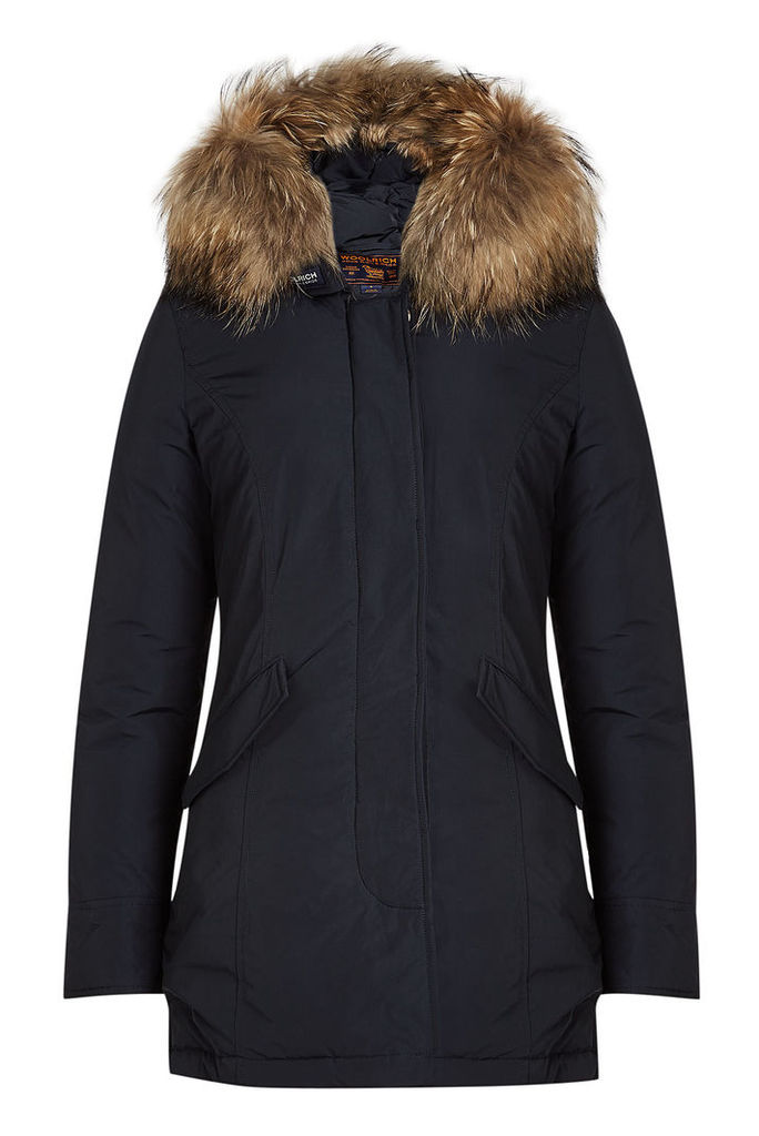 Woolrich Luxury Arctic Down Parka with Fur-Trimmed Hood